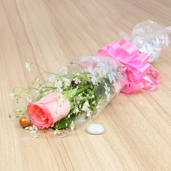 Buy Single Pink Rose Fl10161 Delivery In Lucknow Order